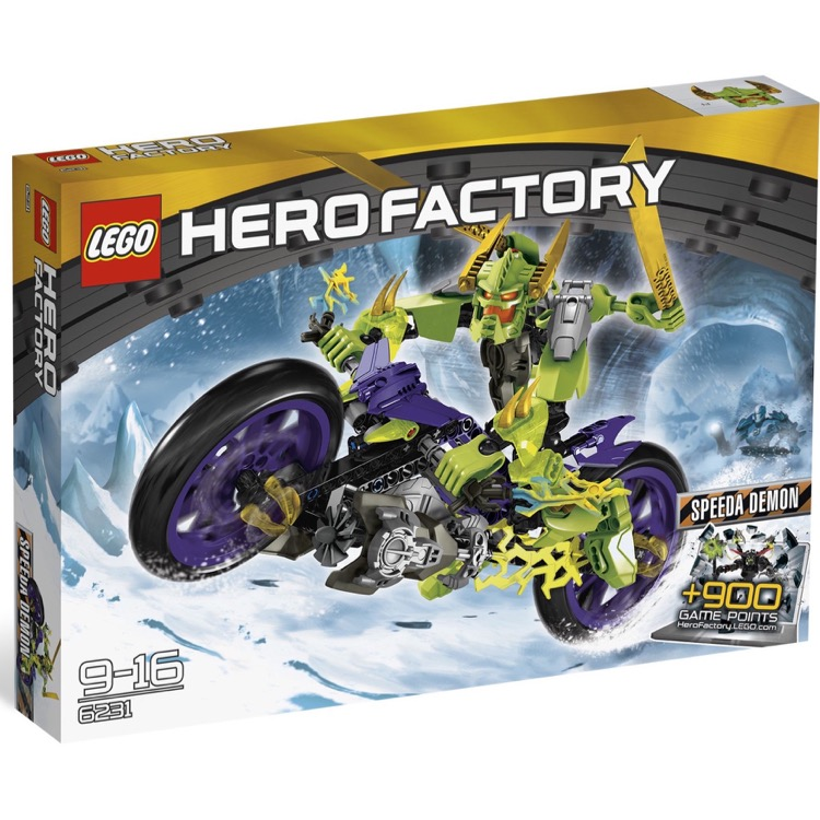 LEGO Hero Factory Sets: 6231 Speeda Demon NEW *Rough Shape*