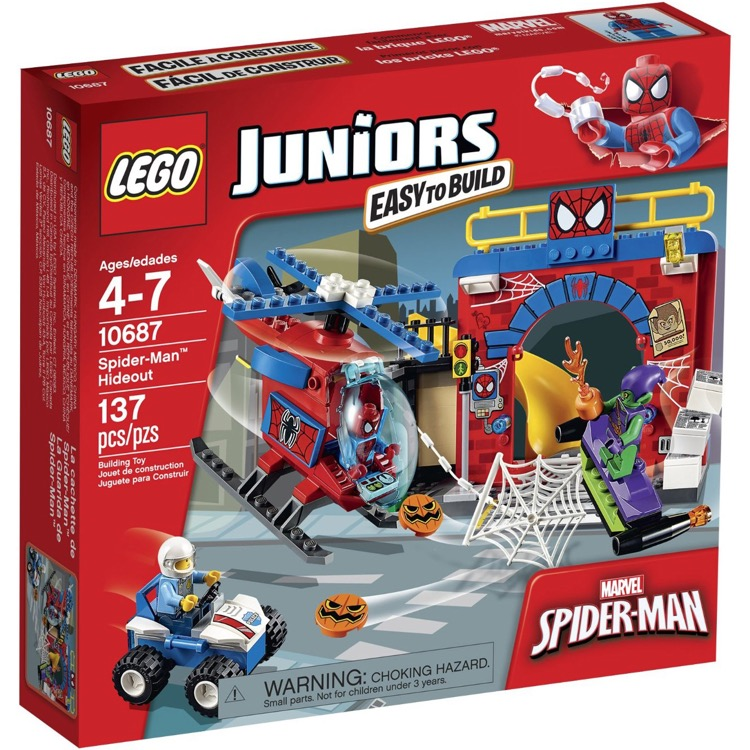 LEGO Juniors Sets: 10687 Spider-Man Hideout NEW