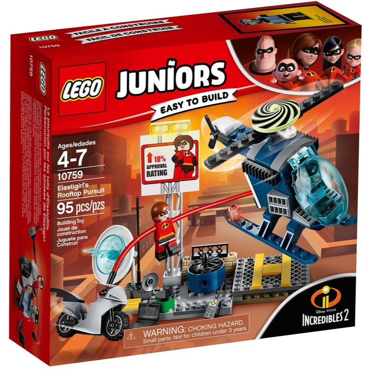 LEGO Juniors Sets: 10759 Elastigirl's Rooftop Pursuit NEW