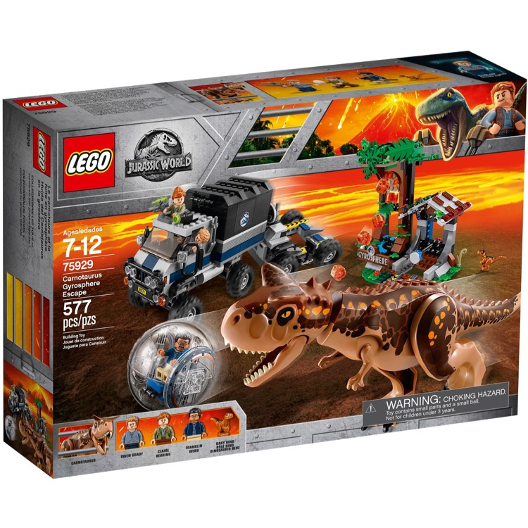 LEGO Jurassic World Sets: 75929 Carnotaurus Gyrosphere Escape NEW
