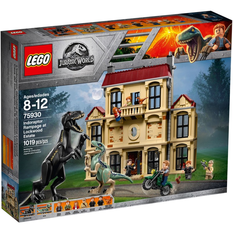 LEGO Jurassic World Sets: 75930 Indoraptor Rampage at Lockwood Estate NEW