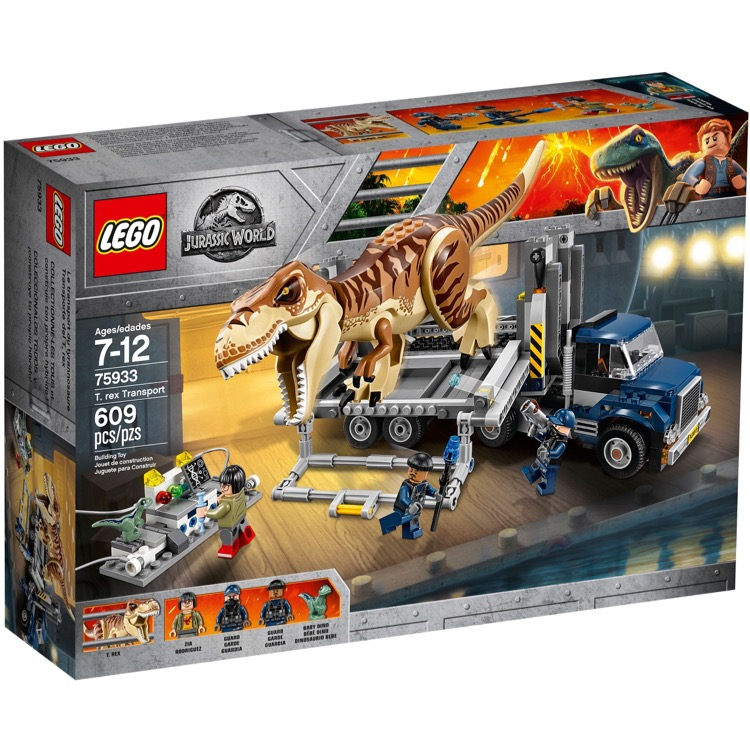LEGO Jurassic World Sets: 75933 T. Rex Transport NEW