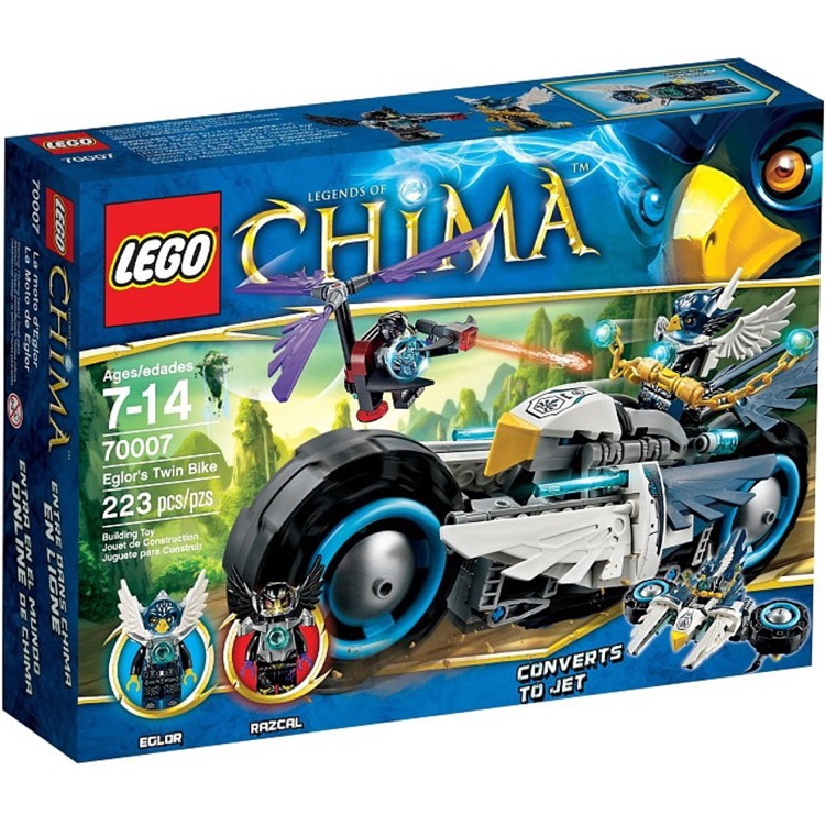 LEGO Legends of Chima Sets: 70007 Elgor's Twin Bike NEW