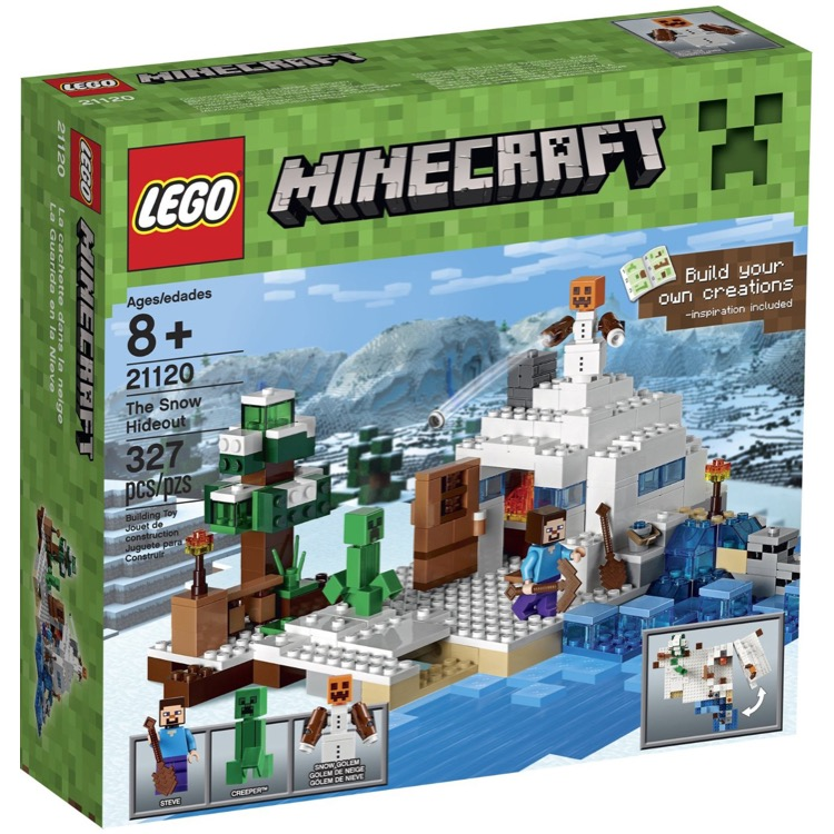 LEGO Minecraft Sets: 21120 The Snow Hideout NEW  *Damaged Box*