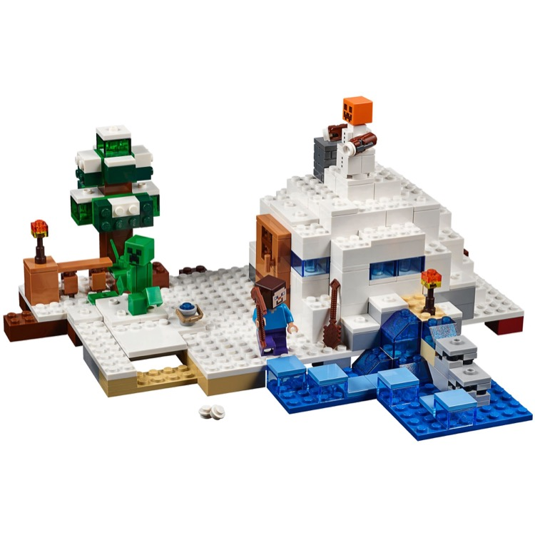 Lego minecraft sets 21120 the snow hideout new for Lego world craft