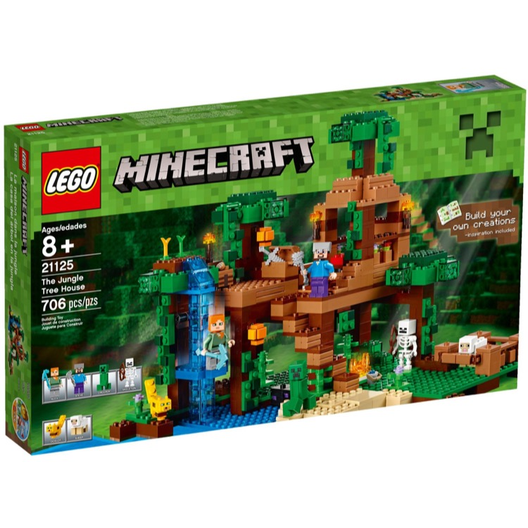 LEGO Minecraft Sets: 21125 The Jungle Tree House NEW