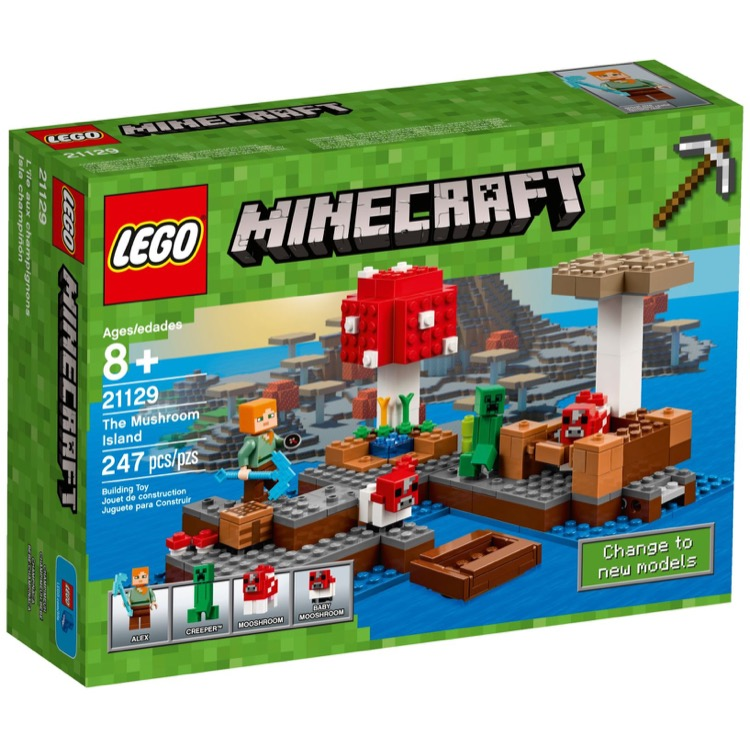 LEGO Minecraft Sets: 21129 The Mushroom Island NEW