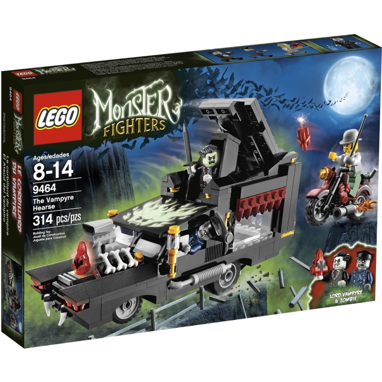 LEGO Monster Fighters Sets: 9464 The Vampyre Hearse NEW *Glow In The Dark Version*