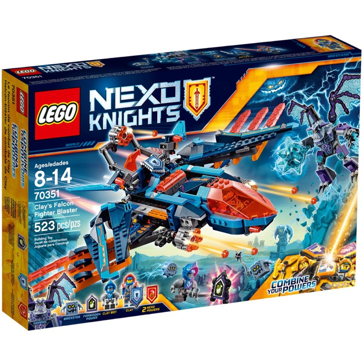 LEGO Nexo Knights Sets: 70351 Clay's Falcon Fighter Blaster NEW