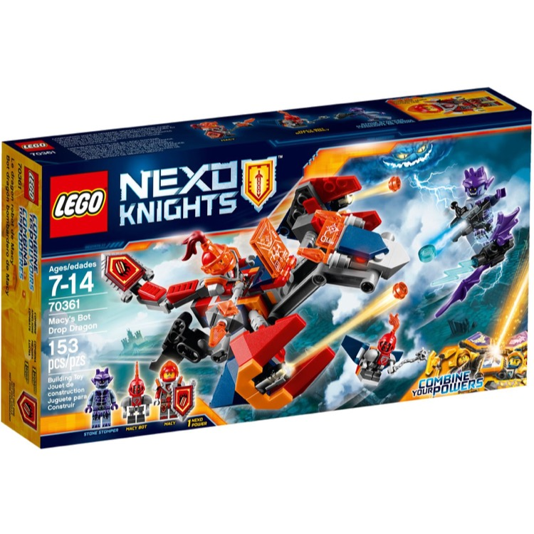 LEGO Nexo Knights Sets: 70361 Macy's Bot Drop Dragon NEW