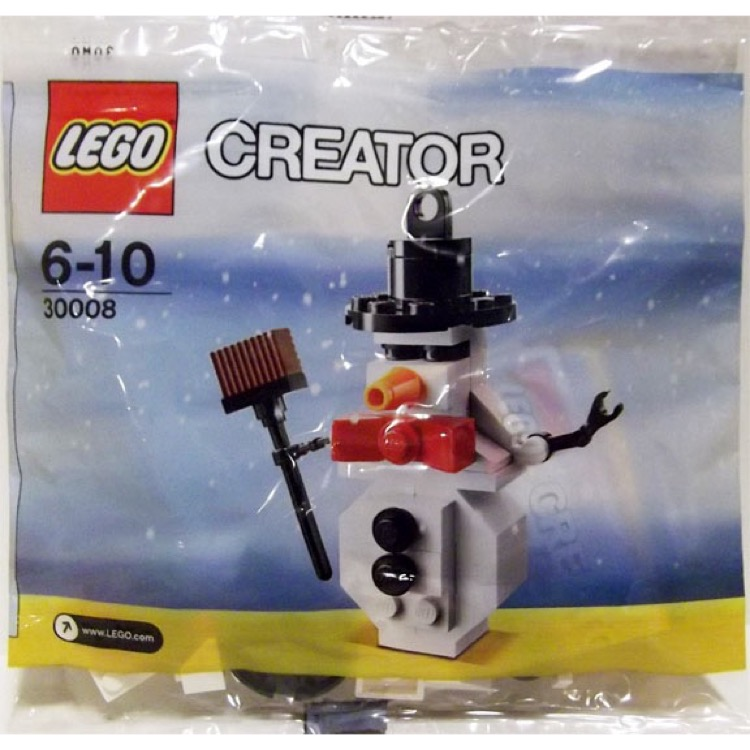 LEGO Seasonal Sets: Holiday 30008 Snowman NEW