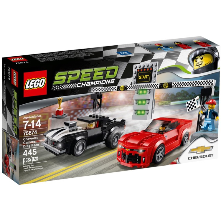 LEGO Speed Champions Sets: 75874 Chevrolet Camaro Drag Race NEW
