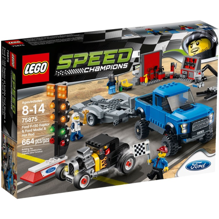 LEGO Speed Champions Sets: 75875 Ford F-150 Raptor & Ford Model A Hot Rod NEW