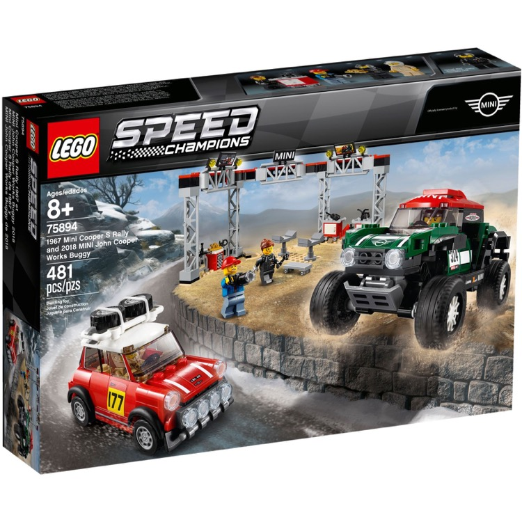 LEGO Speed Champions Sets: 75894 1967 Mini Cooper S Rally and 2018 MINI John Cooper Works Buggy NEW