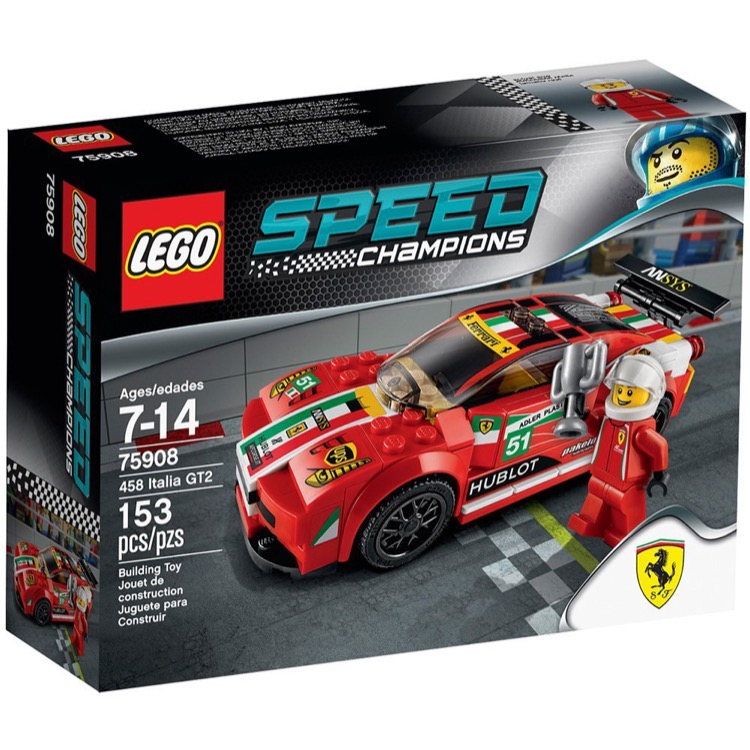 LEGO Speed Champions Sets: 75908 458 Italia GT2 NEW