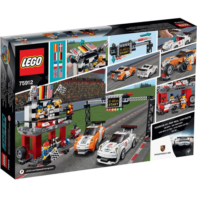 lego speed champions sets 75912 porsche 911 gt finish line new. Black Bedroom Furniture Sets. Home Design Ideas