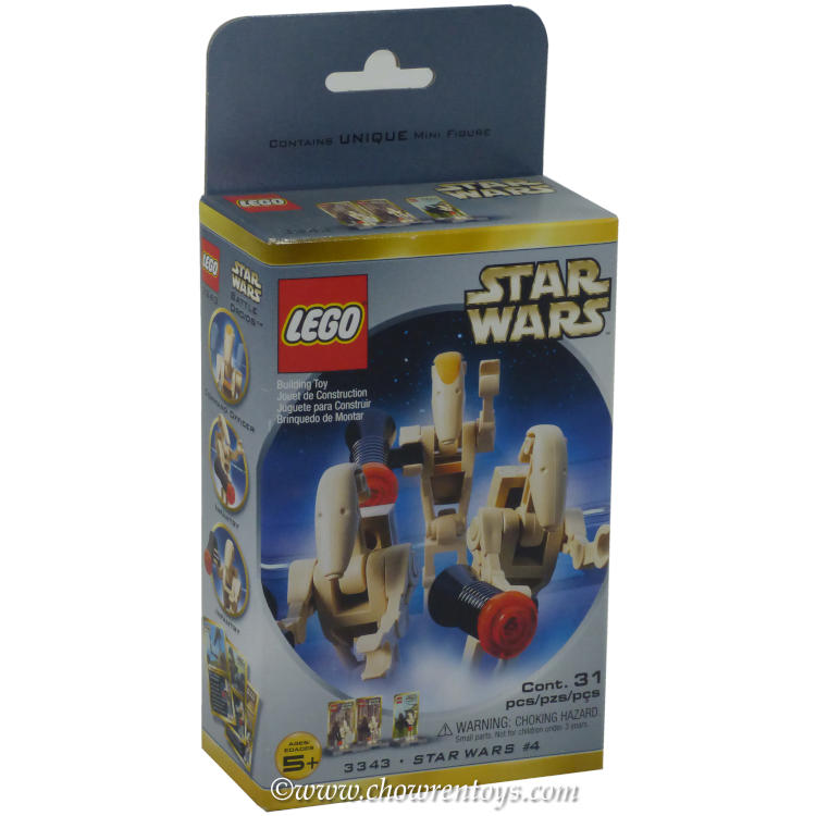LEGO Star Wars Sets 3343 2 Battle Droids and Command Officer