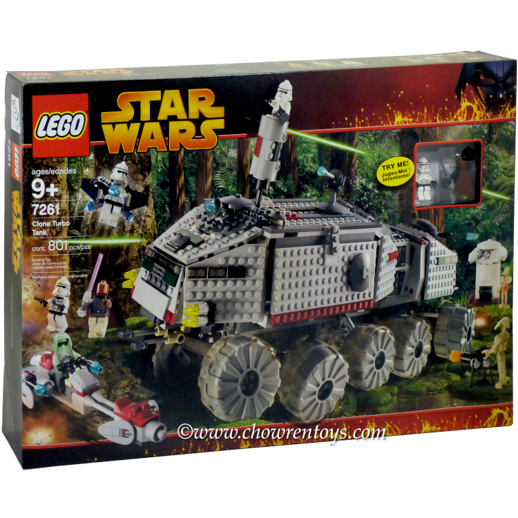 LEGO Star Wars Sets: Episode III 7261 Clone Turbo Tank (w/ Light-Up Mace Windu) NEW