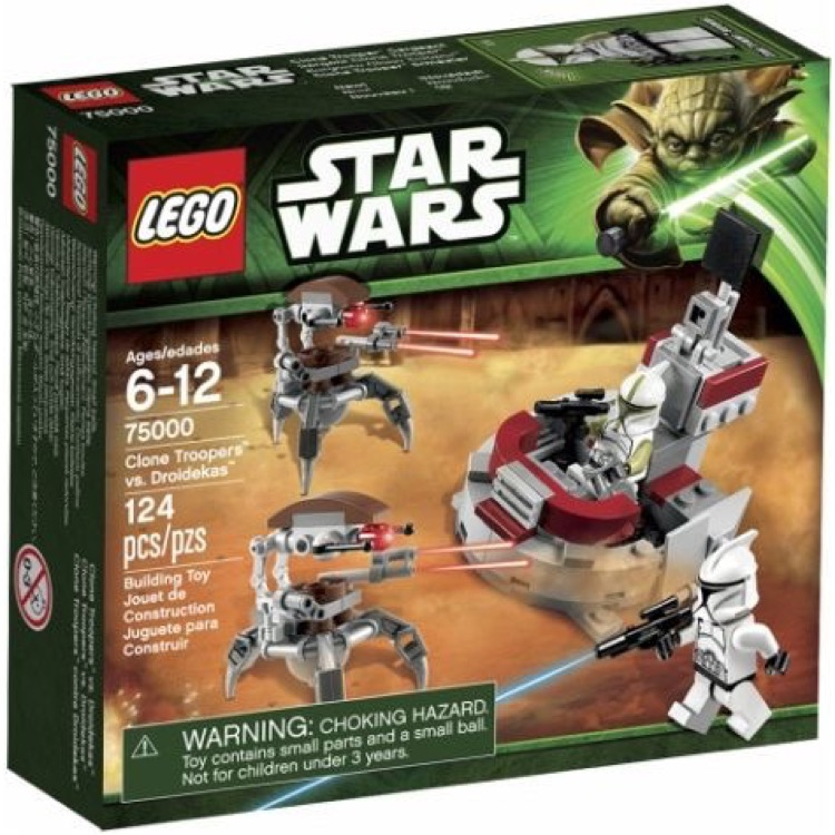 LEGO Star Wars Sets: Episode II 75000 Clone Troopers vs. Droidekas