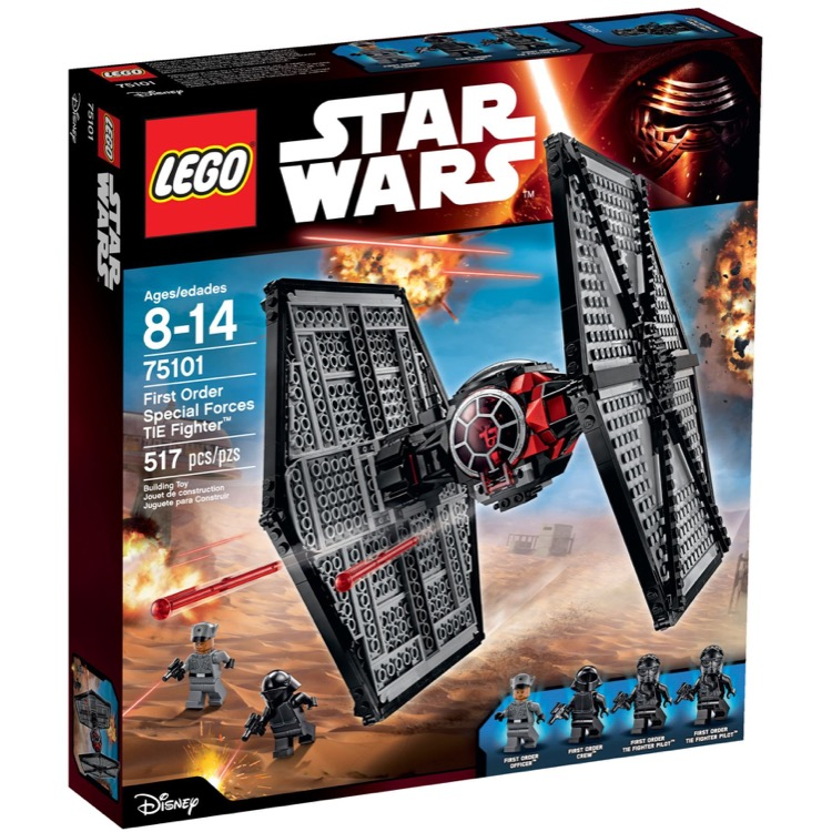 LEGO Star Wars Sets: 75101 First Order Special Forces TIE Fighter NEW