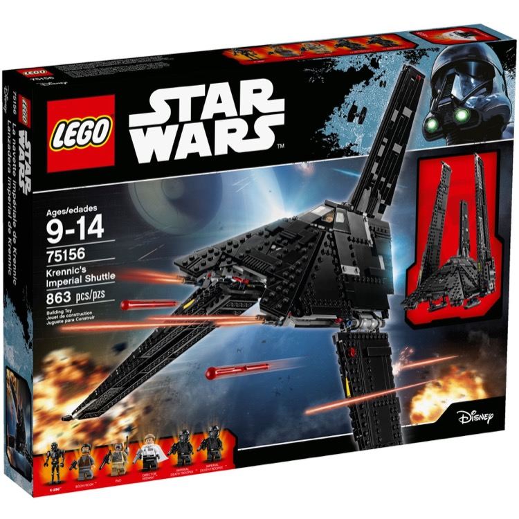 LEGO Star Wars Sets: 75156 Krennic's Imperial Shuttle NEW