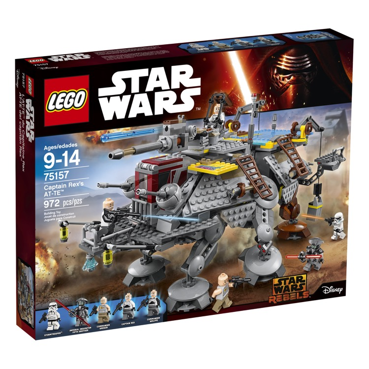 LEGO Star Wars Sets: 75157 Captain Rex's AT-TE Walker NEW