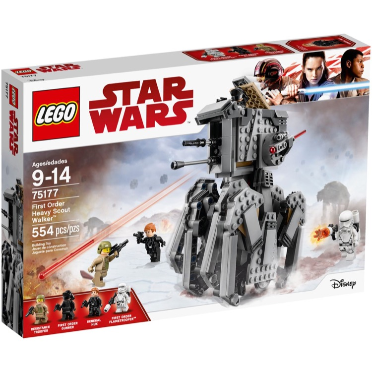 LEGO Star Wars Sets: 75177 First Order Heavy Scout Walker NEW *Damaged Box*