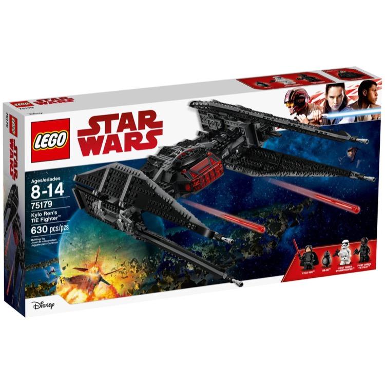 lego star wars sets 75179 kylo ren 39 s tie fighter new. Black Bedroom Furniture Sets. Home Design Ideas