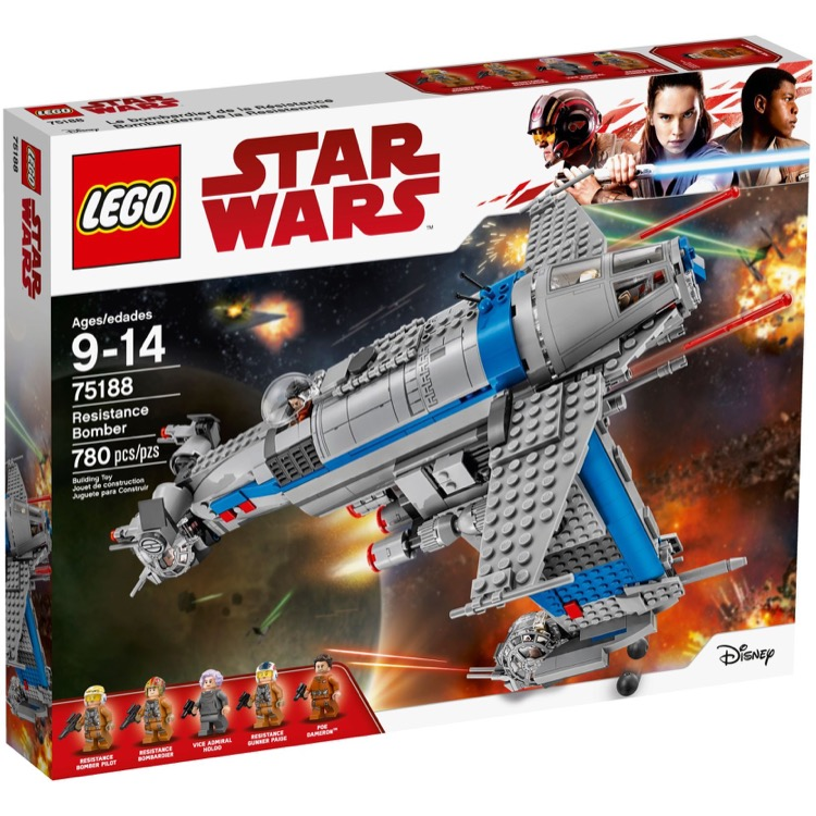 LEGO Star Wars Sets: 75188 Resistance Bomber NEW