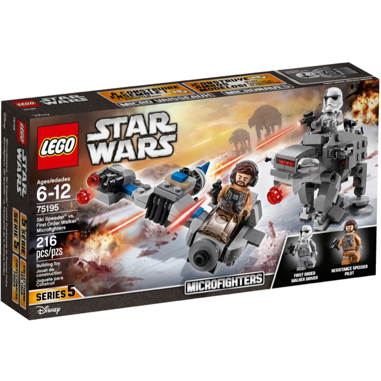 LEGO Star Wars Sets: 75195 Ski Speeder vs. First Order Walker Microfighters NEW