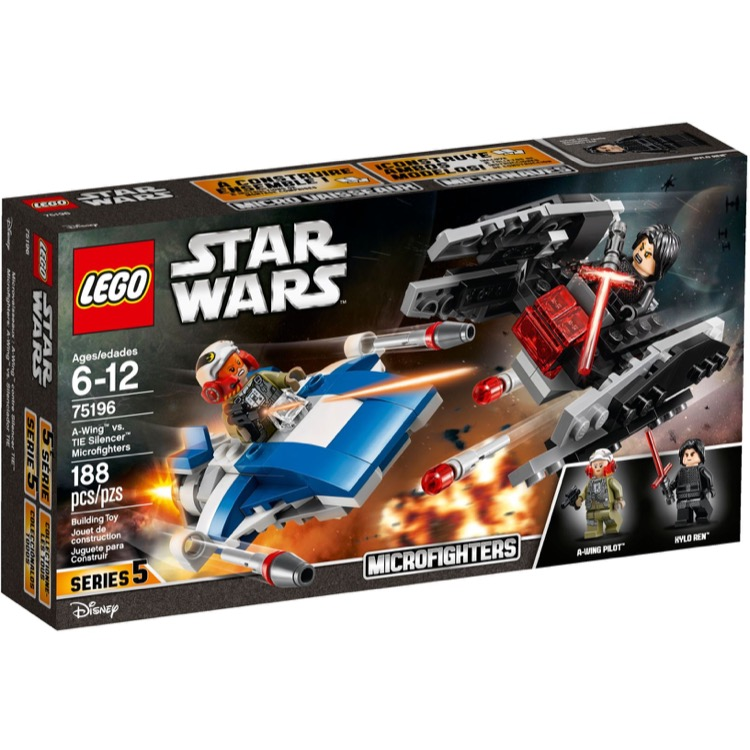 LEGO Star Wars Sets: 75196 A-Wing vs. TIE Silencer Microfighters NEW