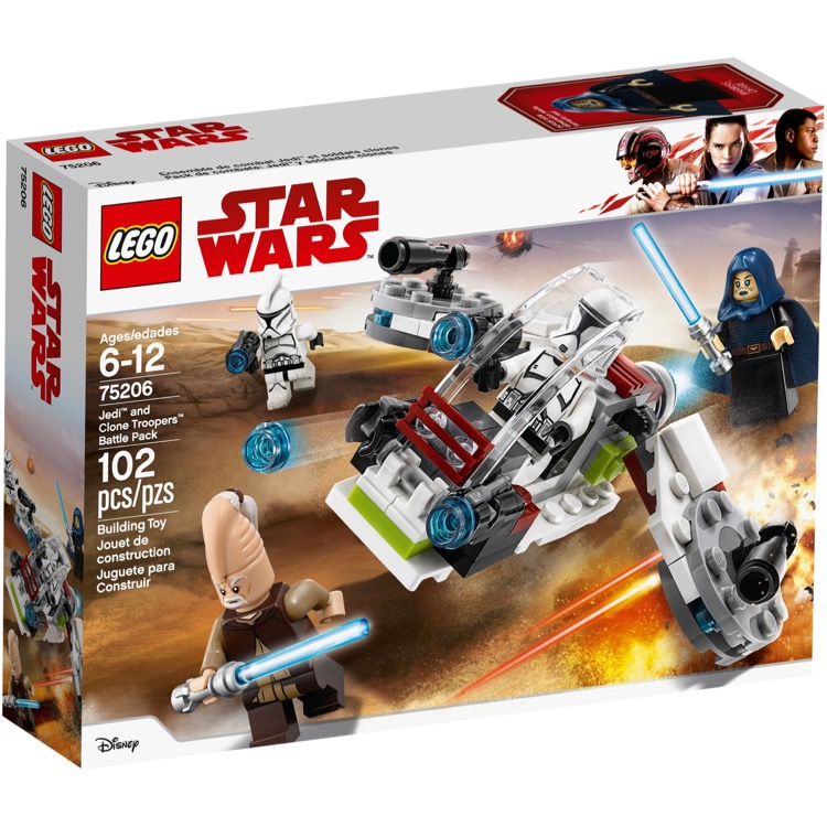 LEGO Star Wars Sets: 75206 Jedi and Clone Troopers Battle Pack NEW