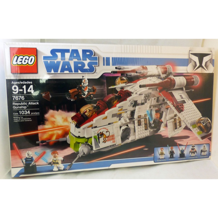 LEGO Star Wars Sets: Clone Wars 7676 Republic Gunship NEW *Rough Shape* @Y