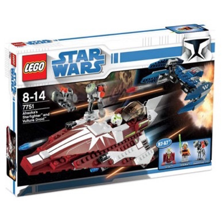 LEGO Star Wars Sets: Clone Wars 7751 Ahsoka's Starfighter and Droids NEW