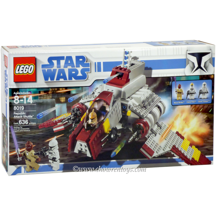 LEGO Star Wars Sets: Clone Wars 8019 Republic Attack Shuttle NEW