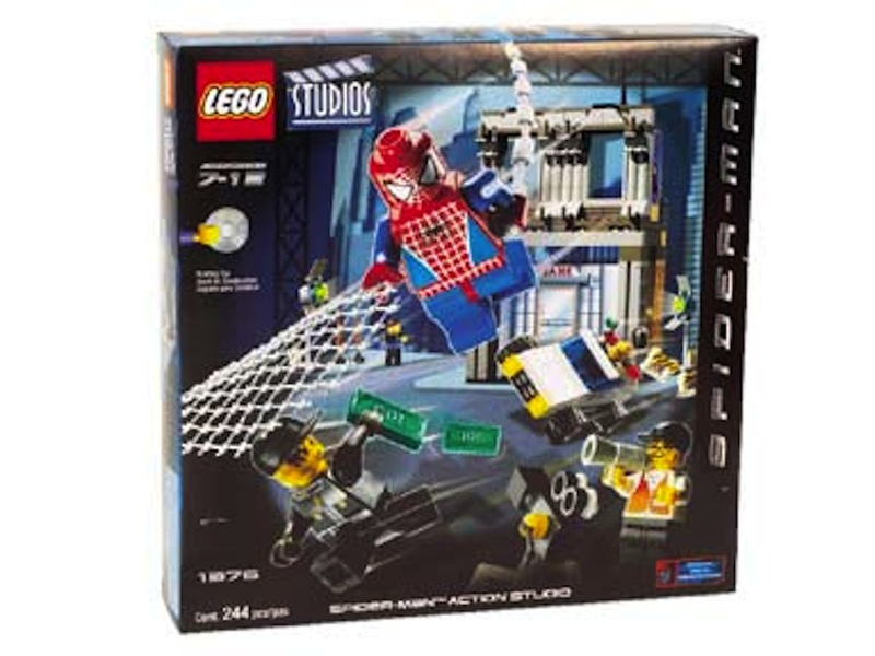 LEGO Super Heroes Sets: LEGO Spider-Man 1376 Spider-Man Action Studio NEW *Rough Shape*