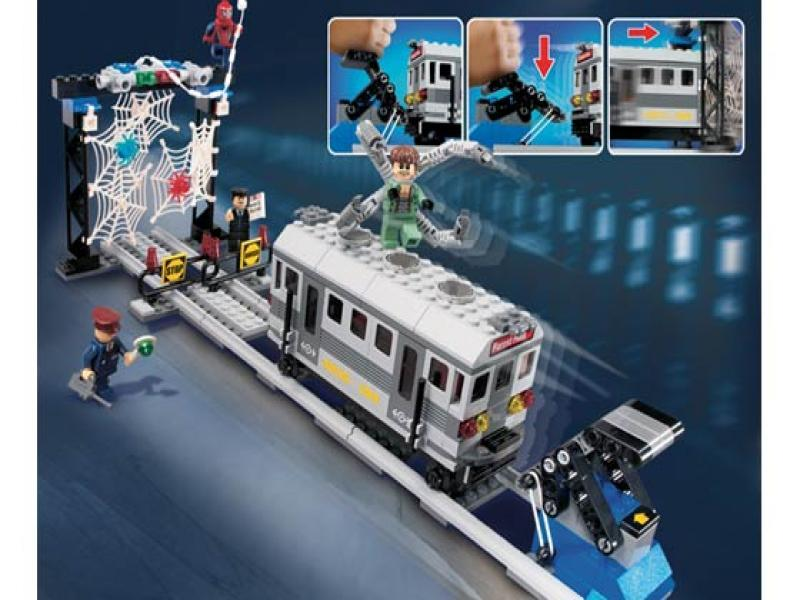 Lego super heroes sets lego spider man 2 4855 spider man 39 s train rescue new - Lego spiderman 2 ...