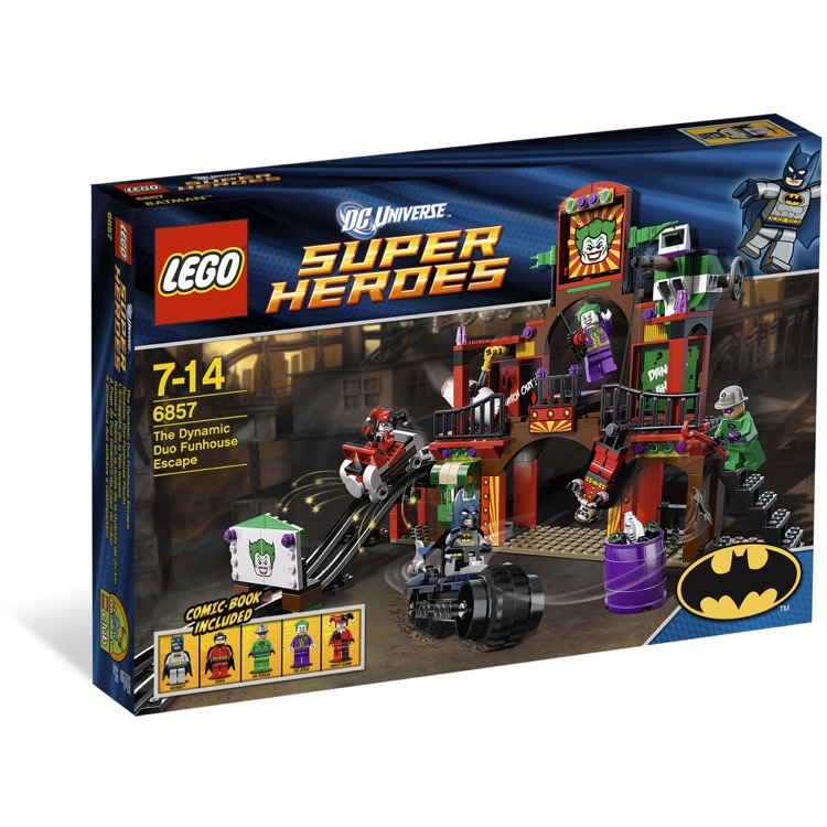 LEGO Super Heroes Sets: DC Comics 6857 The Dynamic Duo Funhouse Escape NEW