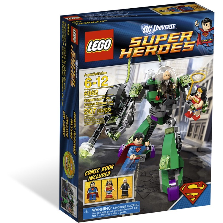 LEGO Super Heroes Sets: DC Comics 6862 Superman vs. Power Armor Lex NEW