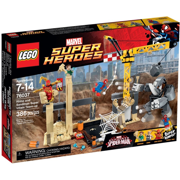 LEGO Super Heroes Sets: Marvel 76037 Rhino and Sandman Supervillain Team-up NEW