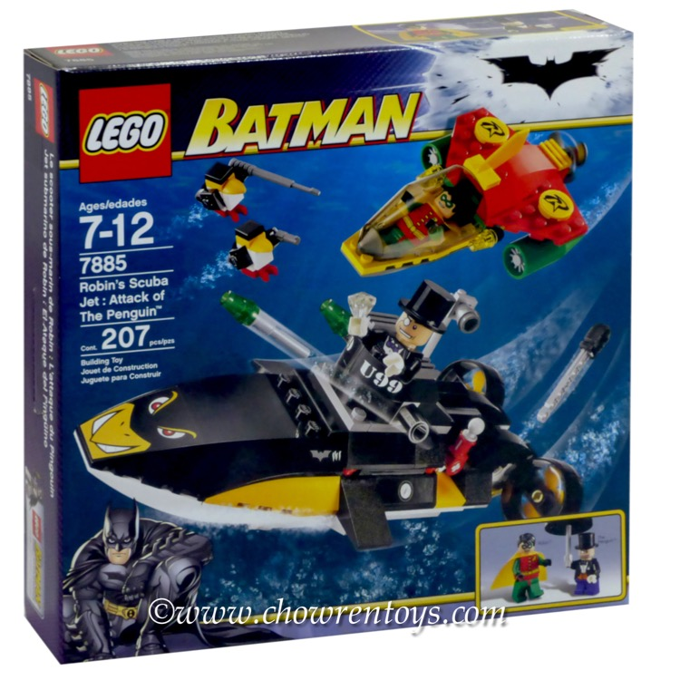 LEGO Super Heroes Sets: DC Comics 7885 Robin's Scuba Jet: Attack of the Penguin NEW
