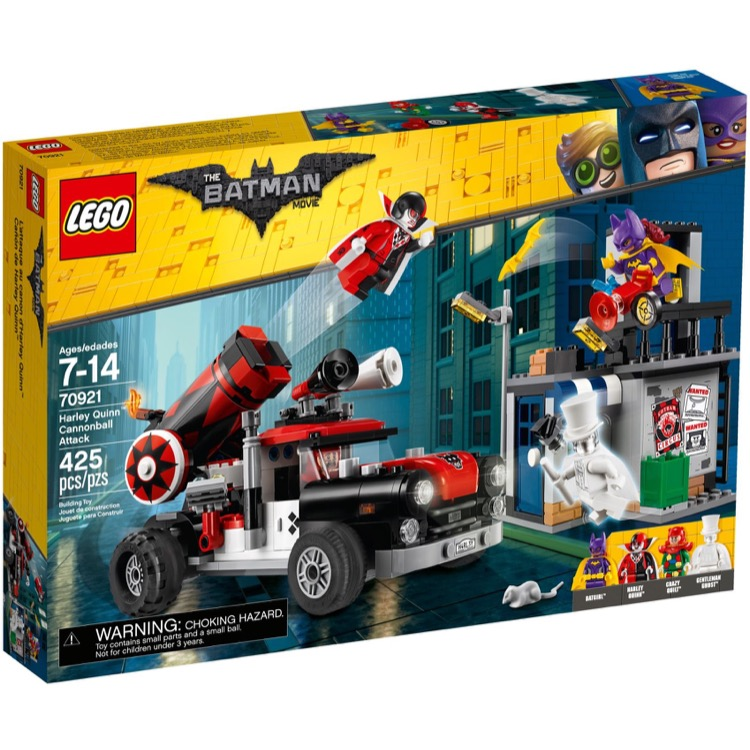 LEGO The LEGO Batman Movie Sets: 70921 Harley Quinn Cannonball Attack NEW