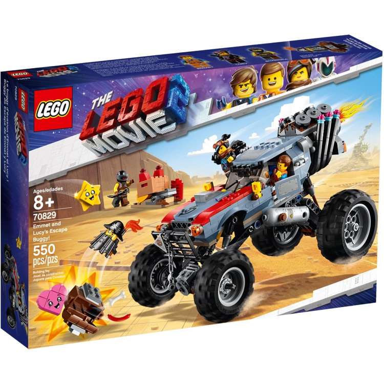 LEGO The LEGO Movie Sets: 70829 The LEGO Movie 2 Emmet and Lucy's Escape Buggy! NEW