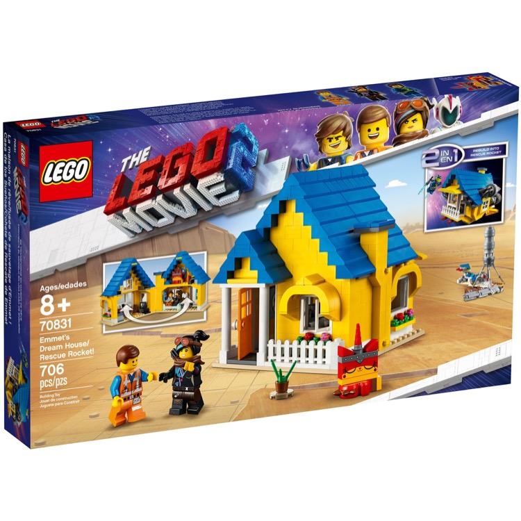 LEGO The LEGO Movie Sets: 70831 The LEGO Movie 2 Emmet's Dream House/Rescue Rocket! NEW