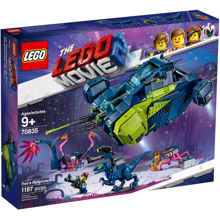 LEGO The LEGO Movie Sets: 70835 The LEGO Movie 2 Rex's Rexplorer! NEW