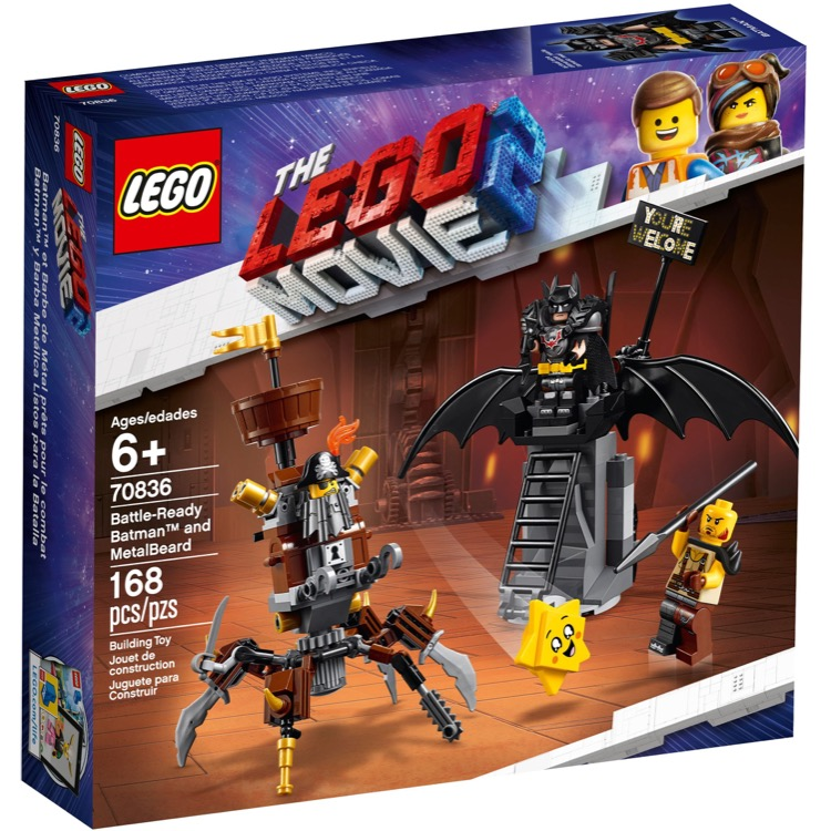 LEGO The LEGO Movie Sets: 70836 The LEGO Movie 2 Battle-Ready Batman and MetalBeard NEW