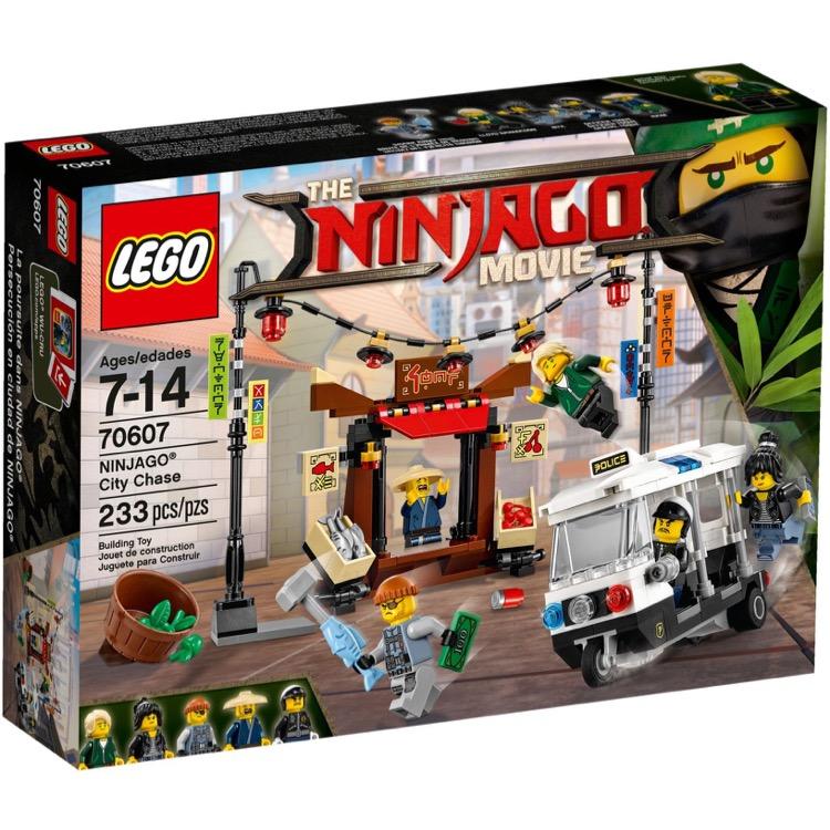 LEGO The LEGO Ninjago Movie Sets: 70607 NINJAGO City Chase NEW