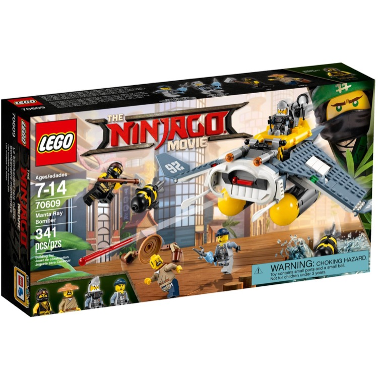LEGO The LEGO Ninjago Movie Sets: 70609 Manta Ray Bomber NEW