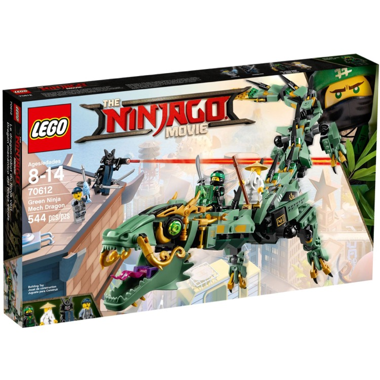 LEGO The LEGO Ninjago Movie Sets: 70612 Green Ninja Mech Dragon NEW