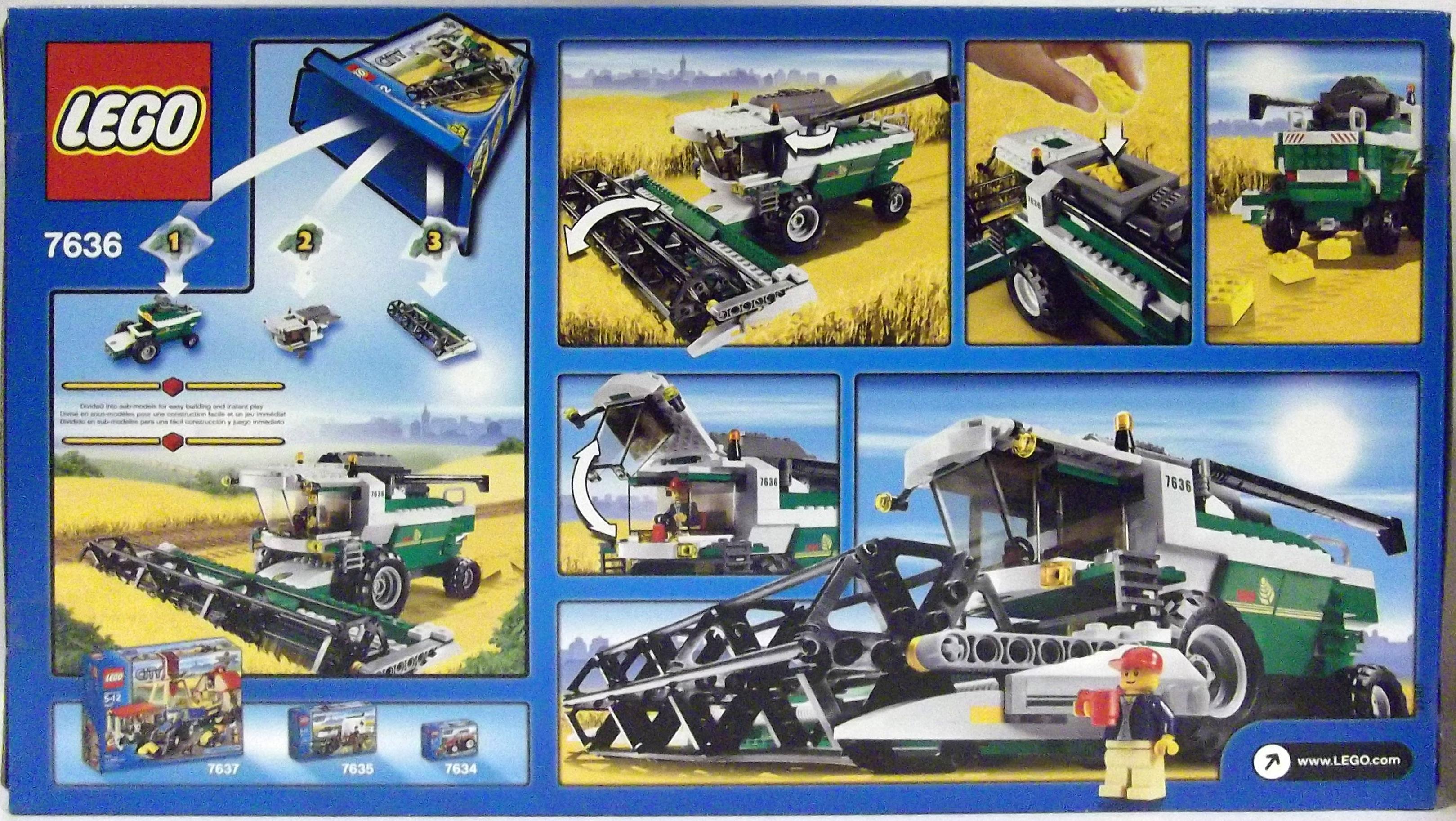Lego Town Sets Lego City Farm 7636 Combine Harvester